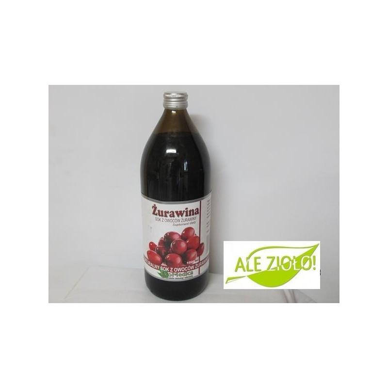 Żurawina- naturalny sok na drogi moczowe