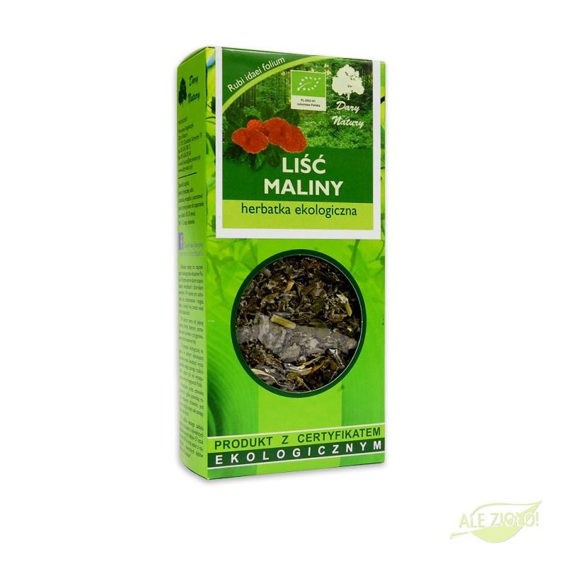 Herbatka z liści maliny - herbatka ekologiczna